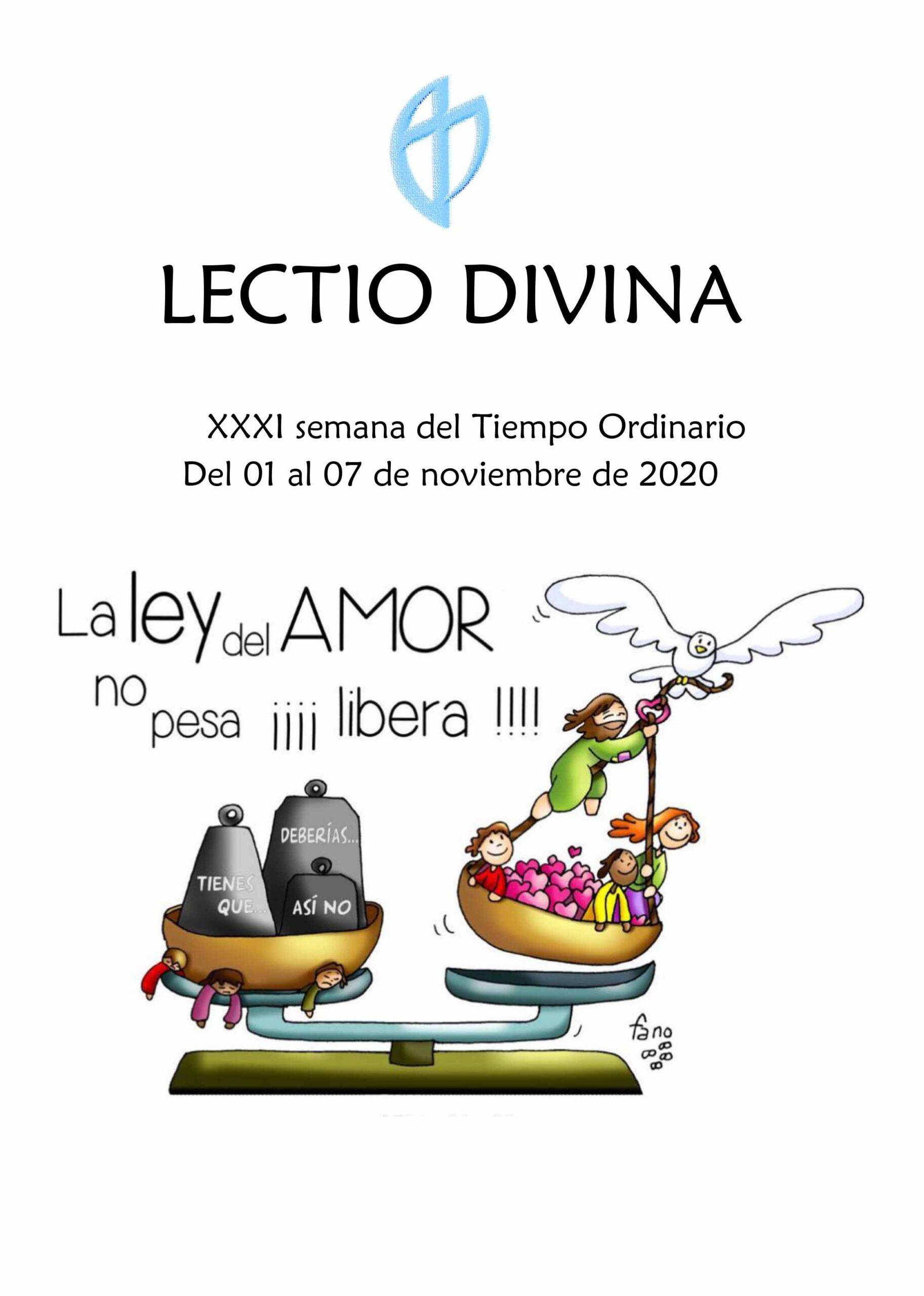 XXXI Semana del Tiempo Ordinario (del 01 al 07 de Noviembre del 2020)
