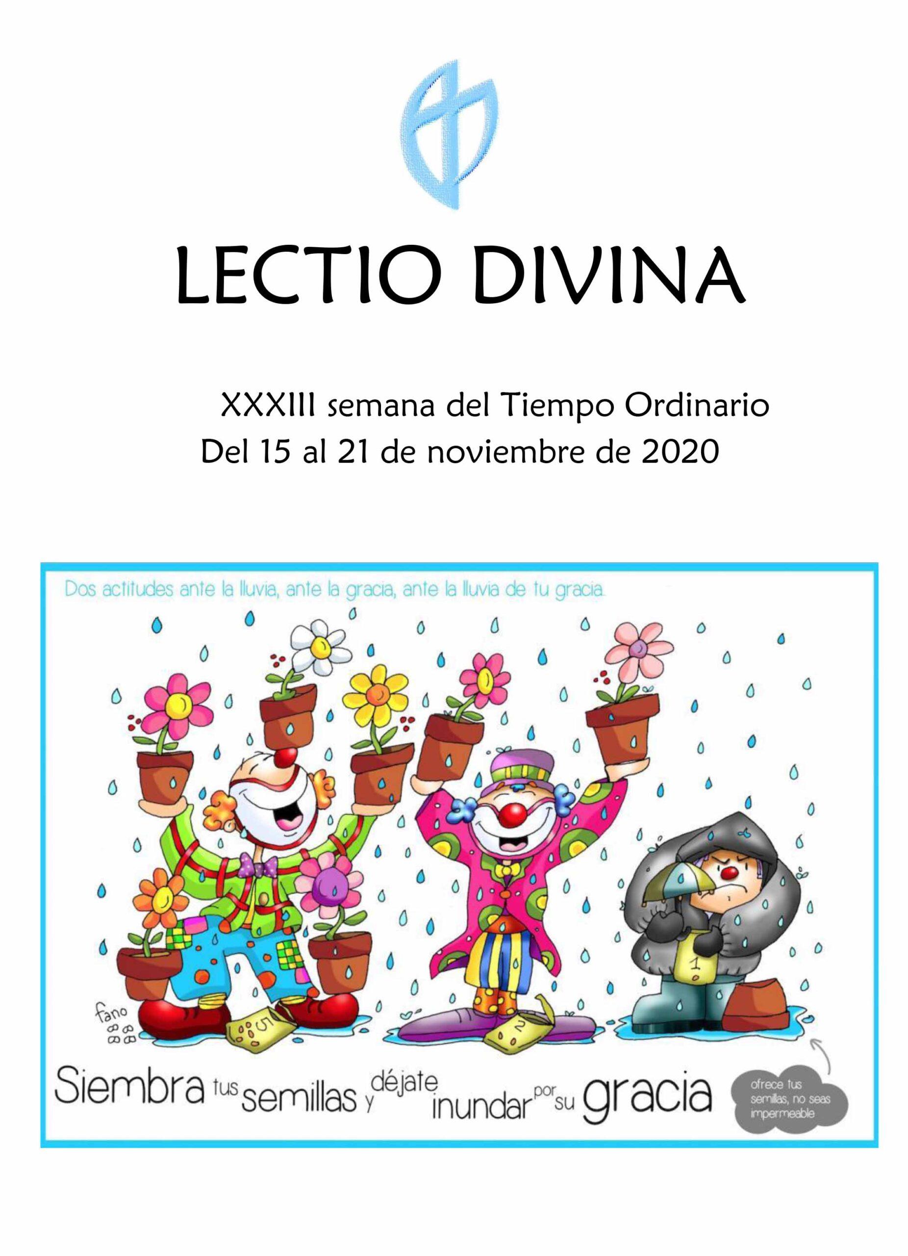 XXXIII Semana del Tiempo Ordinario (del 15 al 21 de Noviembre del 2020)