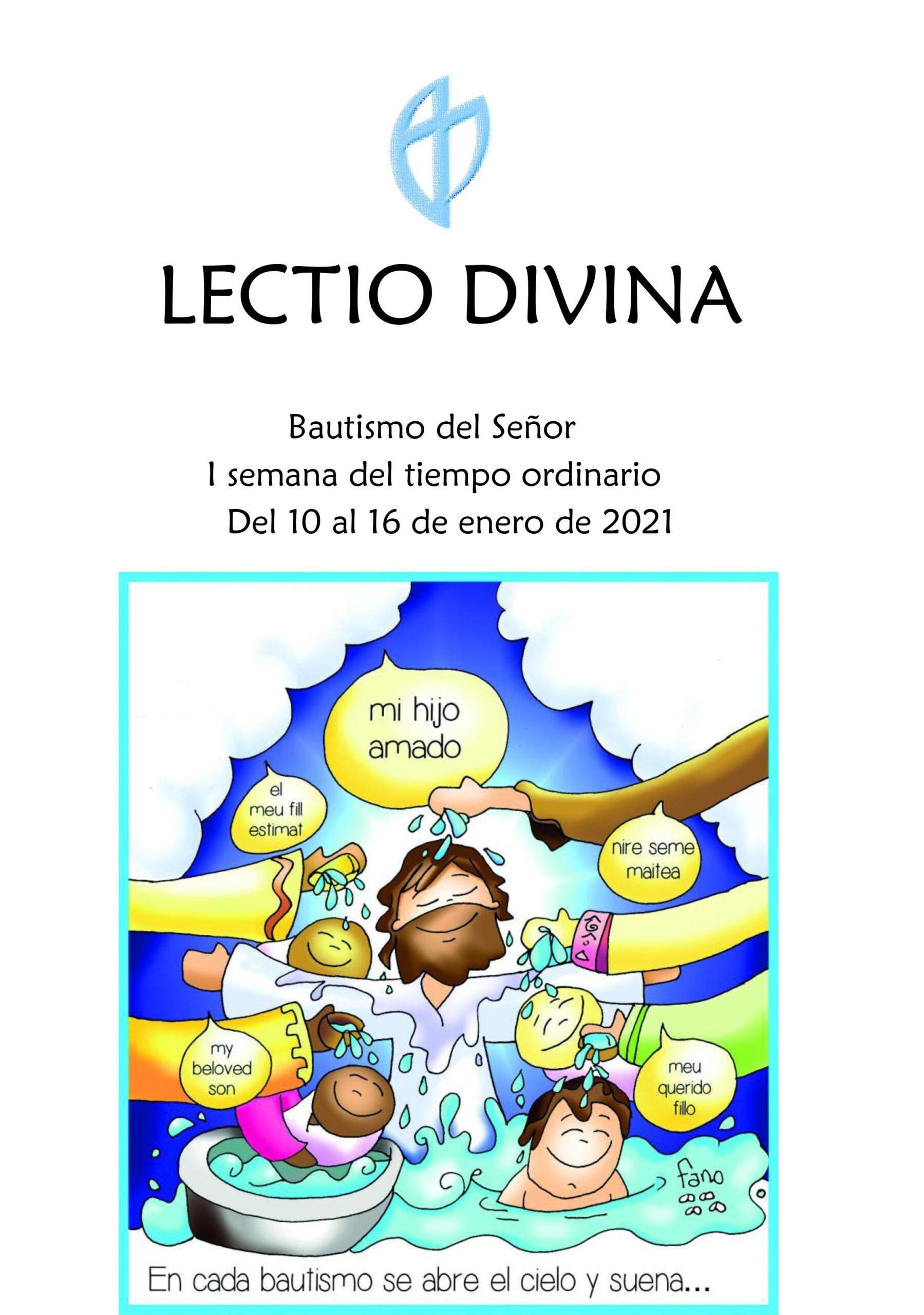Bautismo del Señor I semana del tiempo ordinario (Del 10 al 16 de enero de 2021)